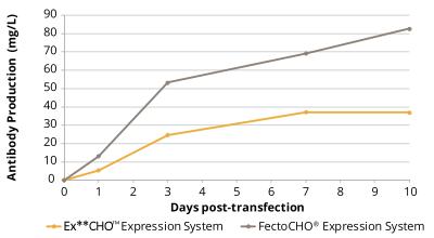 按照标准操作手册转染Ex**CHO<sup>TM</sup>细胞